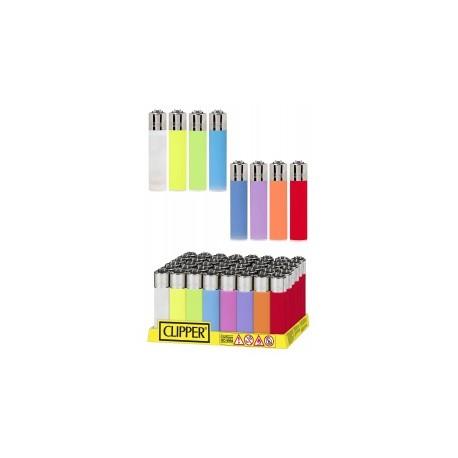 Encendedores Clipper Translucido Colores 48U