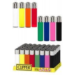Encendedores Clipper Opaco Colores 48U