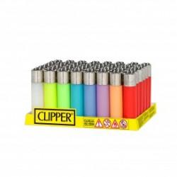 Encendedores Clipper Micro Translucido Colores 48U